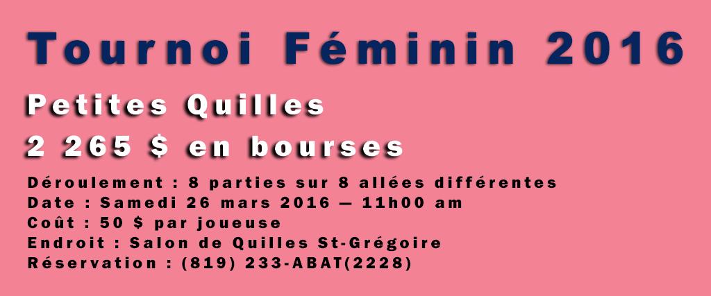 Participez à la 13e édition du Tournoi Féminin !