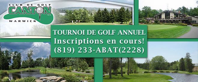 Invitation à notre Tournoi de golf annuel!