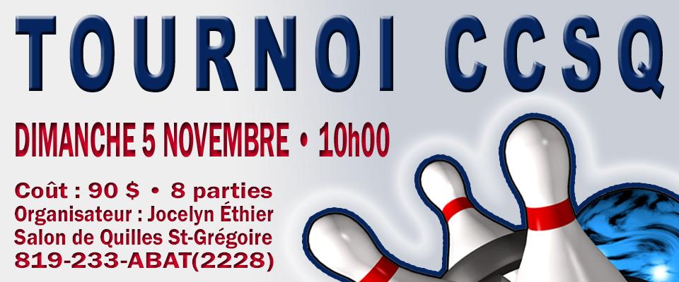 Un tournoi du CCSQ déménage au St-Grégoire